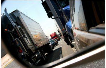 trucks on a highway