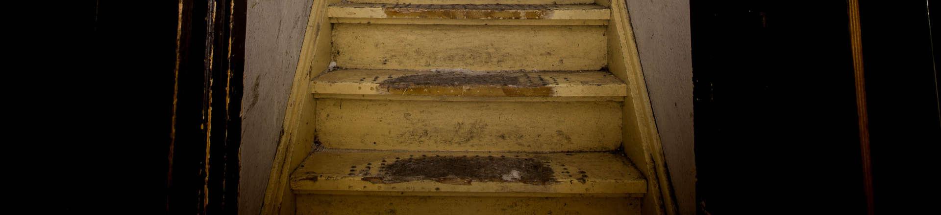 old broken stairs
