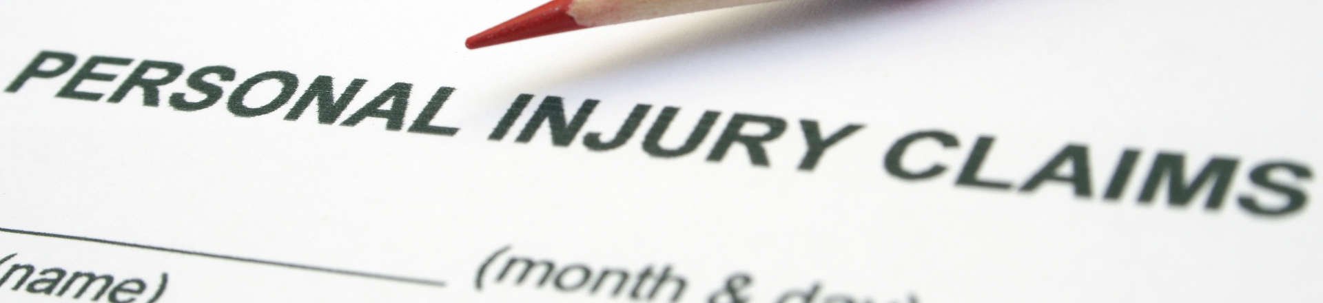 Personal Injury Claims form