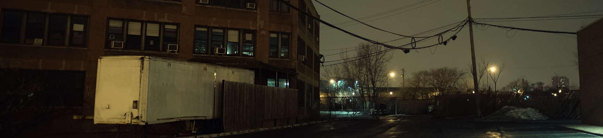 darken city area with inadequate lighting