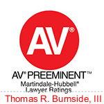 av preeminent martindale-hubbel lawyer ratings thomas r. burnside, III